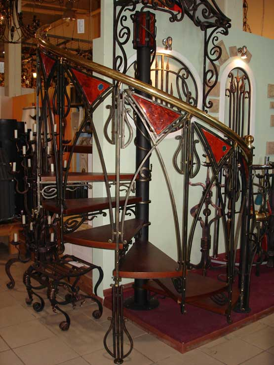 Кованые винтовые лестницы 4