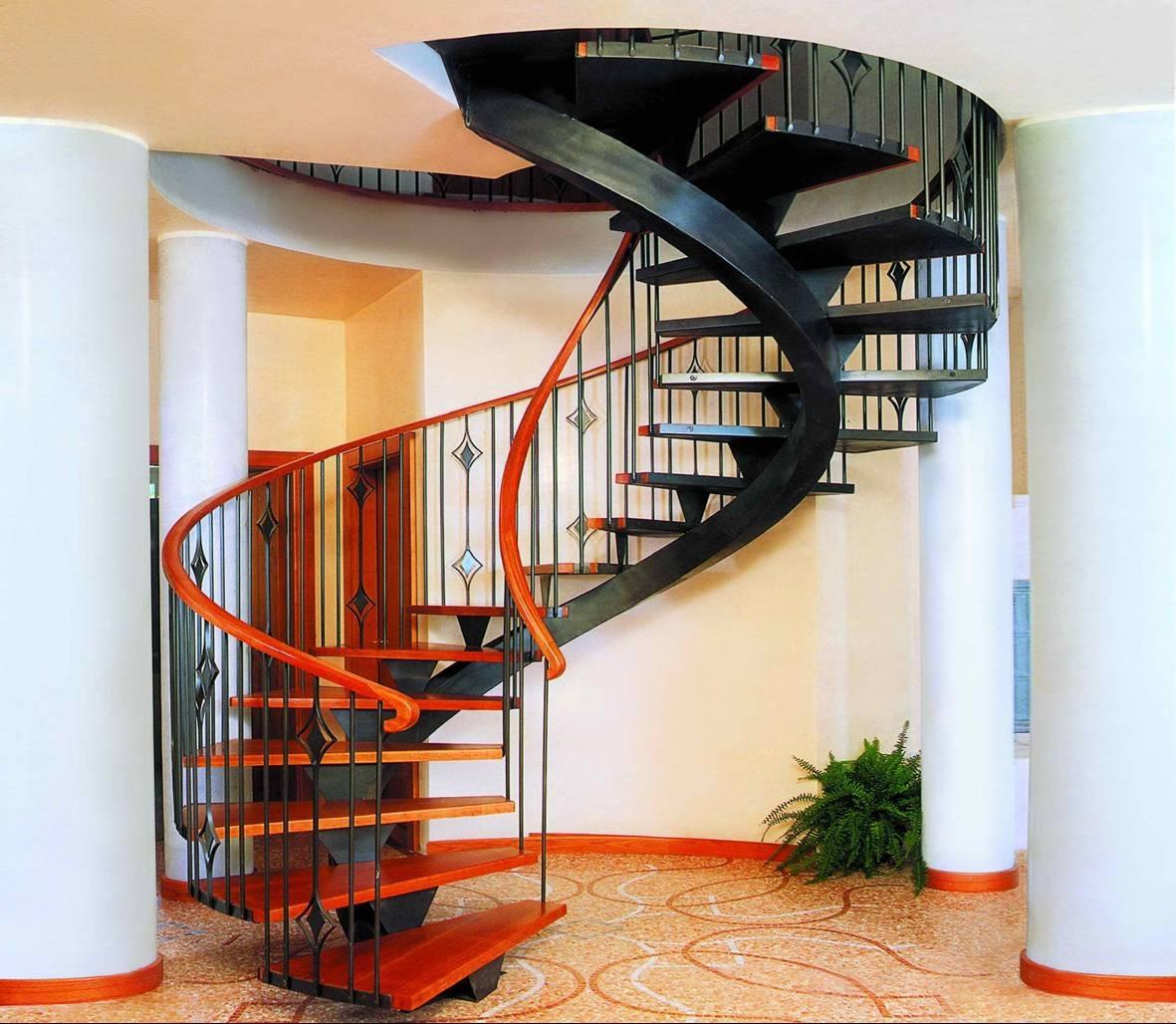 Винтовые лестницы практичность и удобство